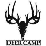 Deer Camp Metal Sign