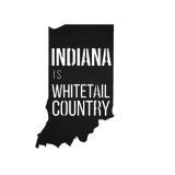 Indiana is Whitetail Country Metal Sign