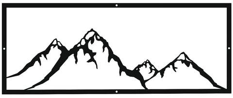 Mountain Landscape Metal Sign