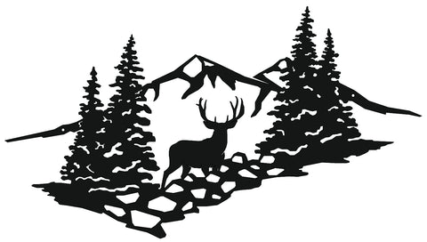 High Country Muley Metal Sign