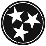 Tennessee State Flag Star Metal Sign