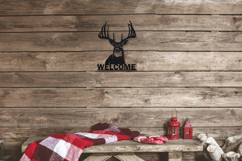 Welcome Whitetail Metal Sign