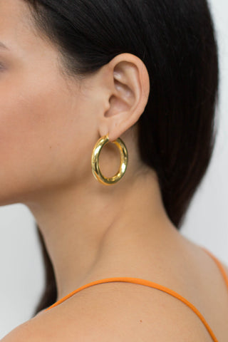 Fat gold hoops, large gold hoops, fabulous large quality real silver hoops, made in italy, medium hoops shiny gold