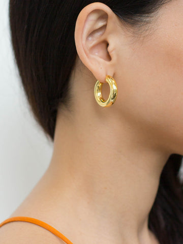 gold hoops, large gold hoops, luxury hoop earrings, the hoop station, georgiana scott jewellery