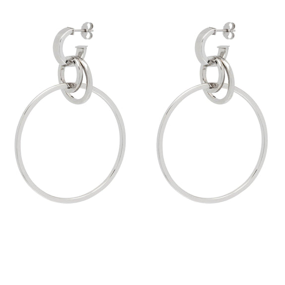 La HULA HULA Hoops - Gold - The Hoop Station 925 Sterling Silver Hoop Earrings Gold Huggies