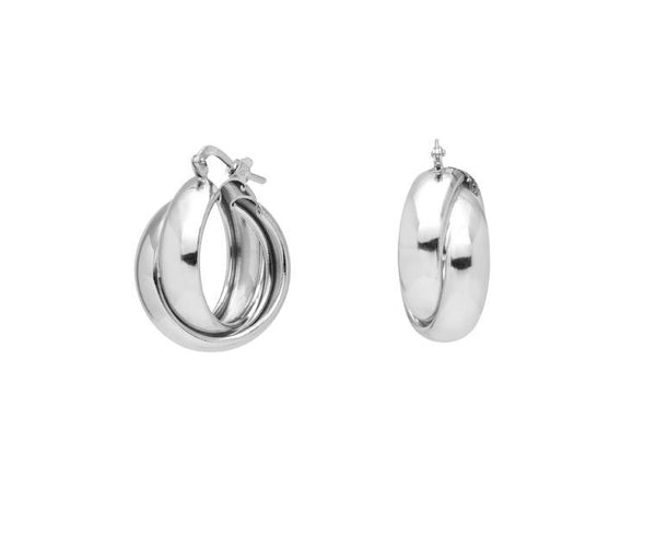 La LUCCA hoops - Silver huggies - The Hoop Station 925 Sterling Silver Hoop Earrings Gold Huggies