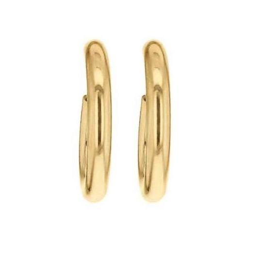 La ORO - Smooth (9carat) Gold Huggies - Georgiana Scott Jewellery