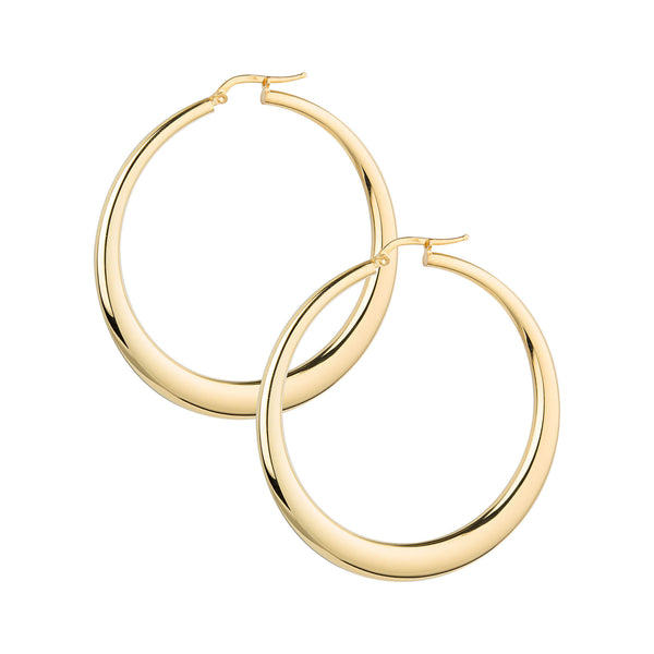 La PORTOFINO - Gold - The Hoop Station 925 Sterling Silver Hoop Earrings Gold Huggies