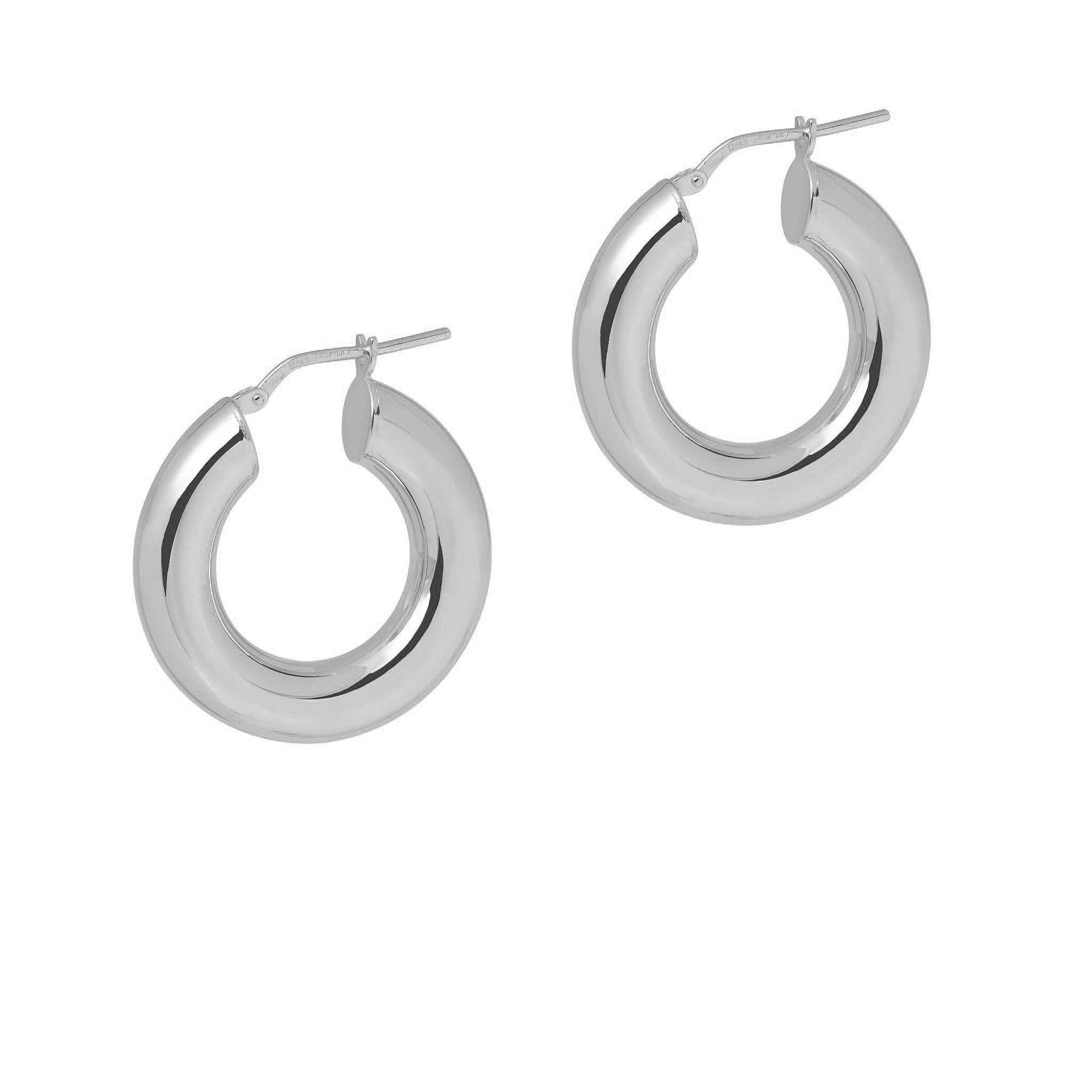 La CURVACEOUS - Silver (5 x diameters) - The Hoop Station 925 Sterling Silver Hoop Earrings Gold Huggies