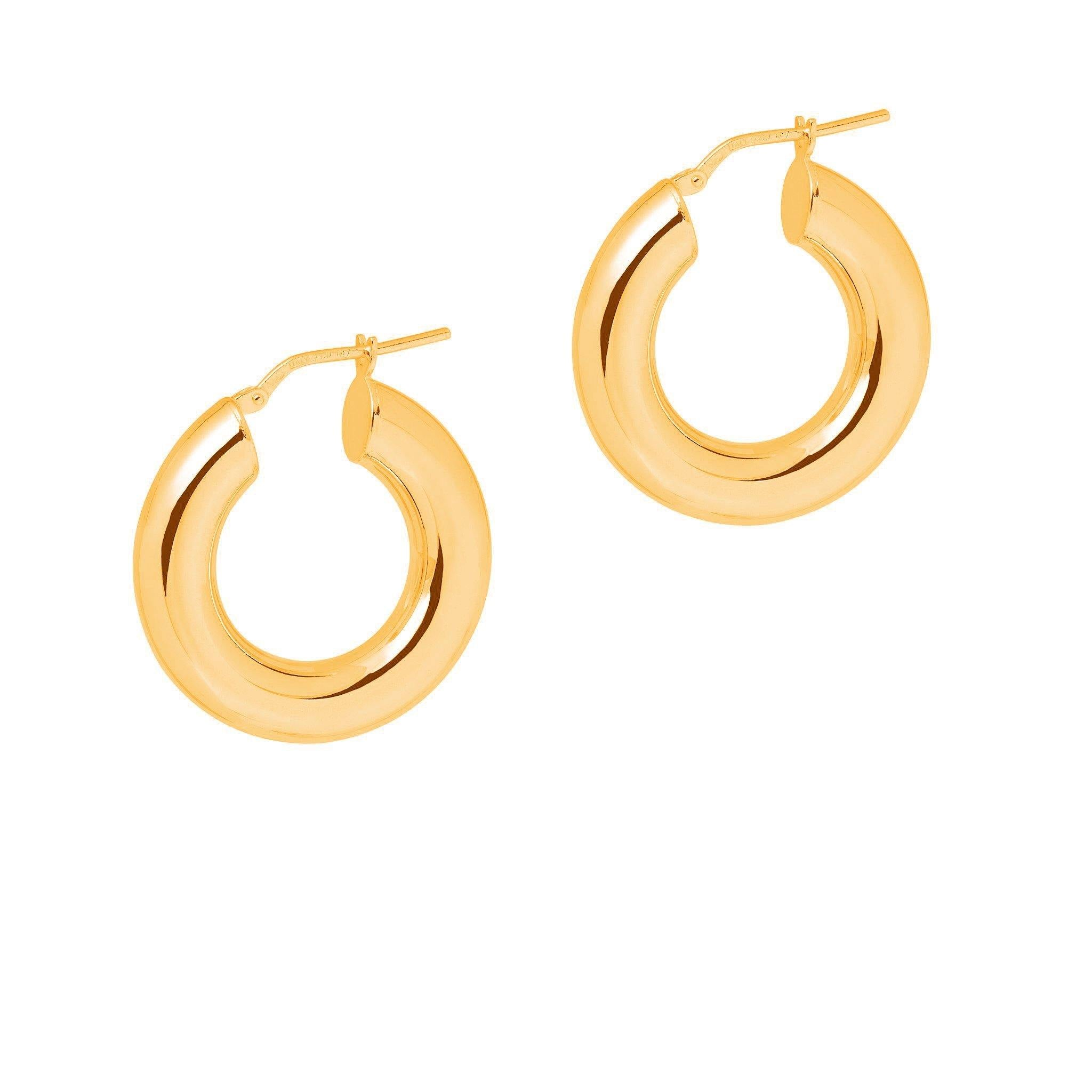 La CURVACEOUS - Gold - Now in 5 x sizes! - The Hoop Station 925 Sterling Silver Hoop Earrings Gold Huggies