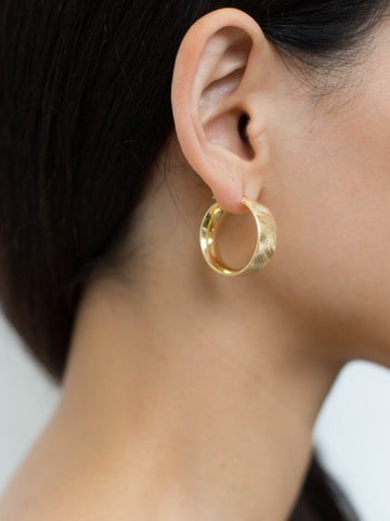 La SATINA CUFF - Silver & Gold - The Hoop Station 925 Sterling Silver Hoop Earrings Gold Huggies