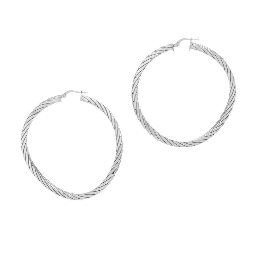 La CANDY TWISTS Silver - SALE - The Hoop Station 925 Sterling Silver Hoop Earrings Gold Huggies