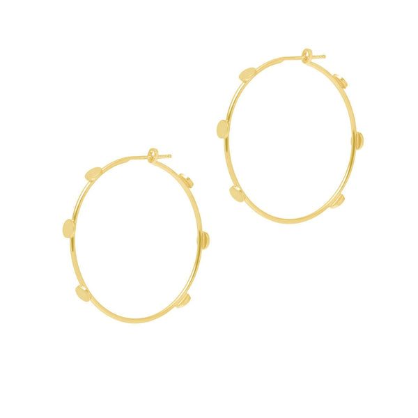 La DISCO Hoops - Gold - The Hoop Station 925 Sterling Silver Hoop Earrings Gold Huggies