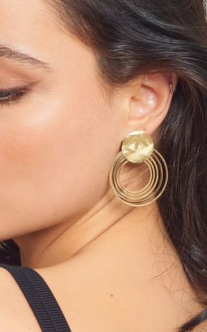 La SATINA DISCO Cocktail Hoops - Gold - The Hoop Station 925 Sterling Silver Hoop Earrings Gold Huggies