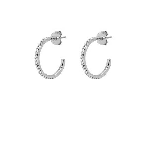 La SPARKLING ETERNITA CZ - Silver - The Hoop Station 925 Sterling Silver Hoop Earrings Gold Huggies