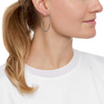 La ROMA Medio Hoops - Silver - The Hoop Station 925 Sterling Silver Hoop Earrings Gold Huggies