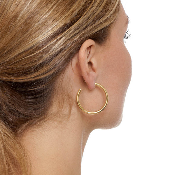 La NAPOLI - The Hoop Station 925 Sterling Silver Hoop Earrings Gold Huggies