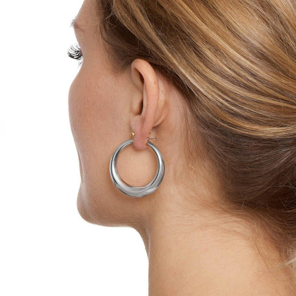 La PORTOFINO Silver Piccolo Hoops - The Hoop Station 925 Sterling Silver Hoop Earrings Gold Huggies