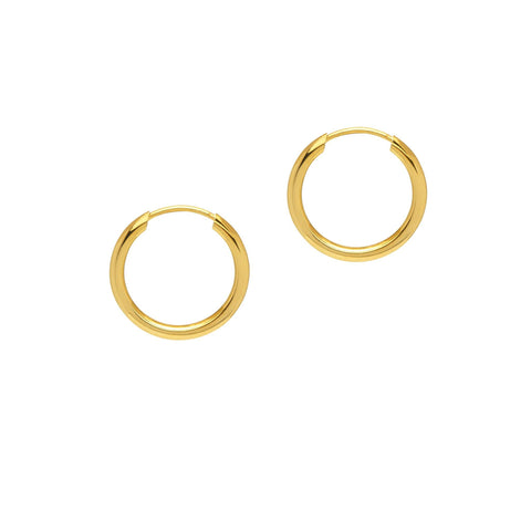 La PICCOLINA Huggies - The Hoop Station 925 Sterling Silver Hoop Earrings Gold Huggies