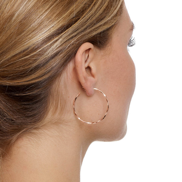 La LAGO Di COMO Rose Gold - The Hoop Station 925 Sterling Silver Hoop Earrings Gold Huggies