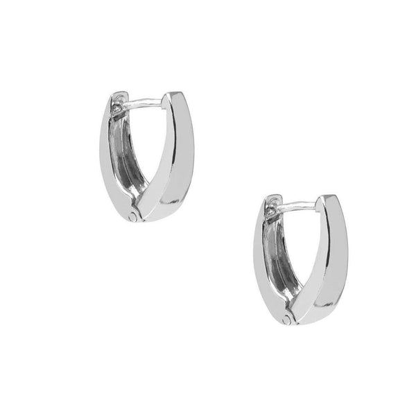 La DALMINE 'V' Huggies - SALE - The Hoop Station 925 Sterling Silver Hoop Earrings Gold Huggies