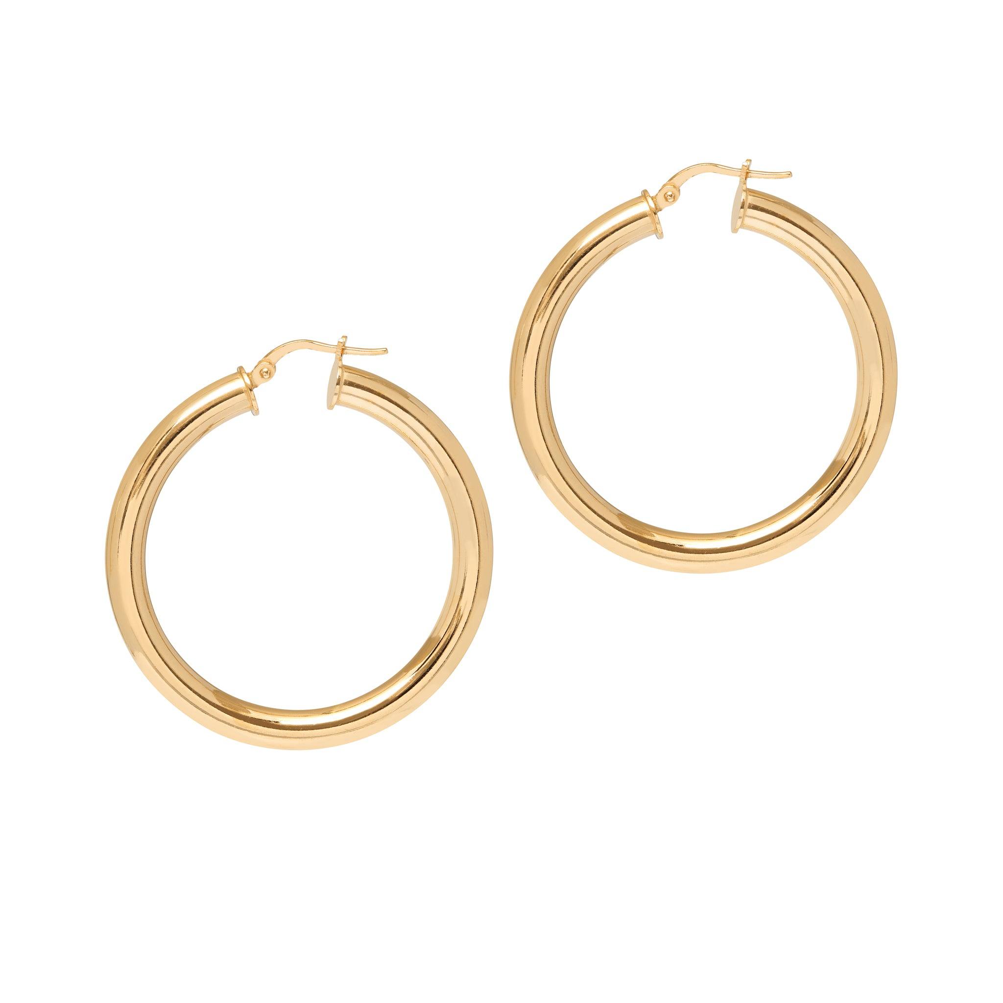 La TUBO - The Hoop Station 925 Sterling Silver Hoop Earrings Gold Huggies