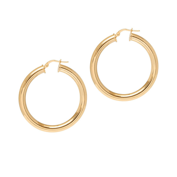 La CURVACEOUS Gold (5 x sizes) - The Hoop Station 925 Sterling Silver Hoop Earrings Gold Huggies