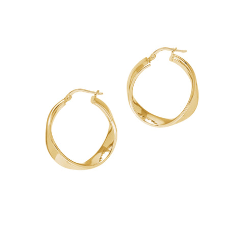 La WAVE CUFF Hoops - Gold - Piccolo