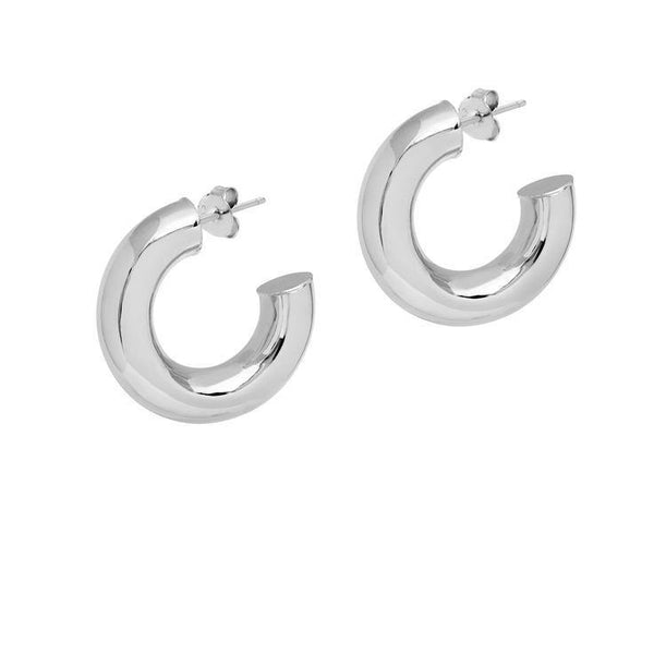 La 80s CURVACEOUS - Silver - The Hoop Station 925 Sterling Silver Hoop Earrings Gold Huggies