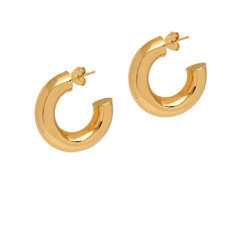La CURVACEOUS (Gold, butterflies) - The Hoop Station 925 Sterling Silver Hoop Earrings Gold Huggies