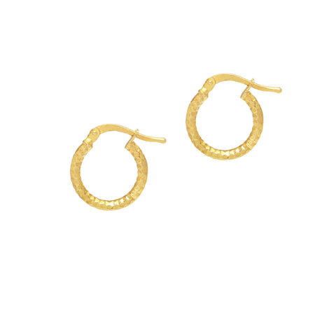La SERPENTE Huggies - The Hoop Station 925 Sterling Silver Hoop Earrings Gold Huggies