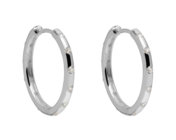 La SPARKLING POSITANO - Silver - The Hoop Station 925 Sterling Silver Hoop Earrings Gold Huggies