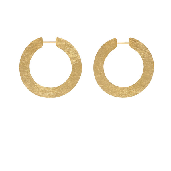 LA SATINA SLICE Mini - Gold - The Hoop Station 925 Sterling Silver Hoop Earrings Gold Huggies
