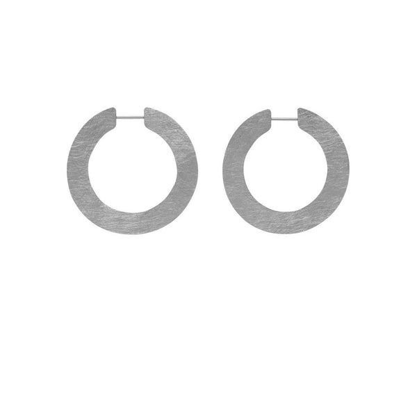 LA SATINA SLICE Piccolo - Silver - The Hoop Station 925 Sterling Silver Hoop Earrings Gold Huggies