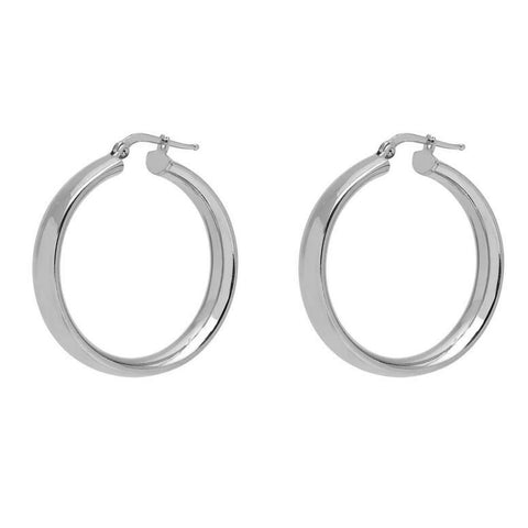 La SHINY CUFFS - Silver - The Hoop Station 925 Sterling Silver Hoop Earrings Gold Huggies
