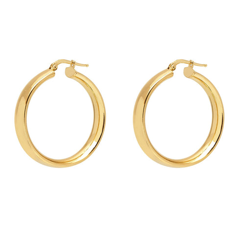 La SHINY CUFFS - Gold - The Hoop Station 925 Sterling Silver Hoop Earrings Gold Huggies