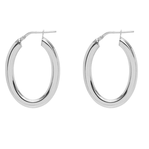 La OVAL PIATTO Hoops - SALE - The Hoop Station 925 Sterling Silver Hoop Earrings Gold Huggies