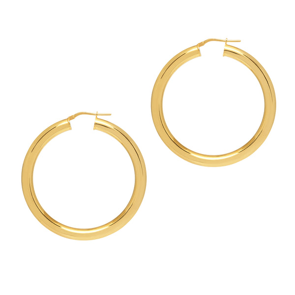 La TUBO GRANDE - Gold & Silver - The Hoop Station 925 Sterling Silver Hoop Earrings Gold Huggies