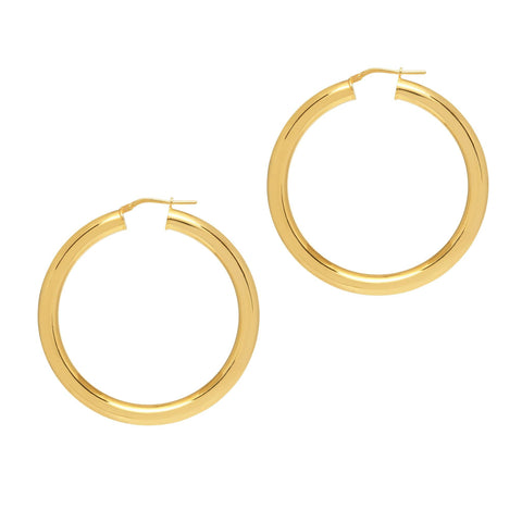 La CURVACEOUS Gold (5 x diameters)! - The Hoop Station 925 Sterling Silver Hoop Earrings Gold Huggies