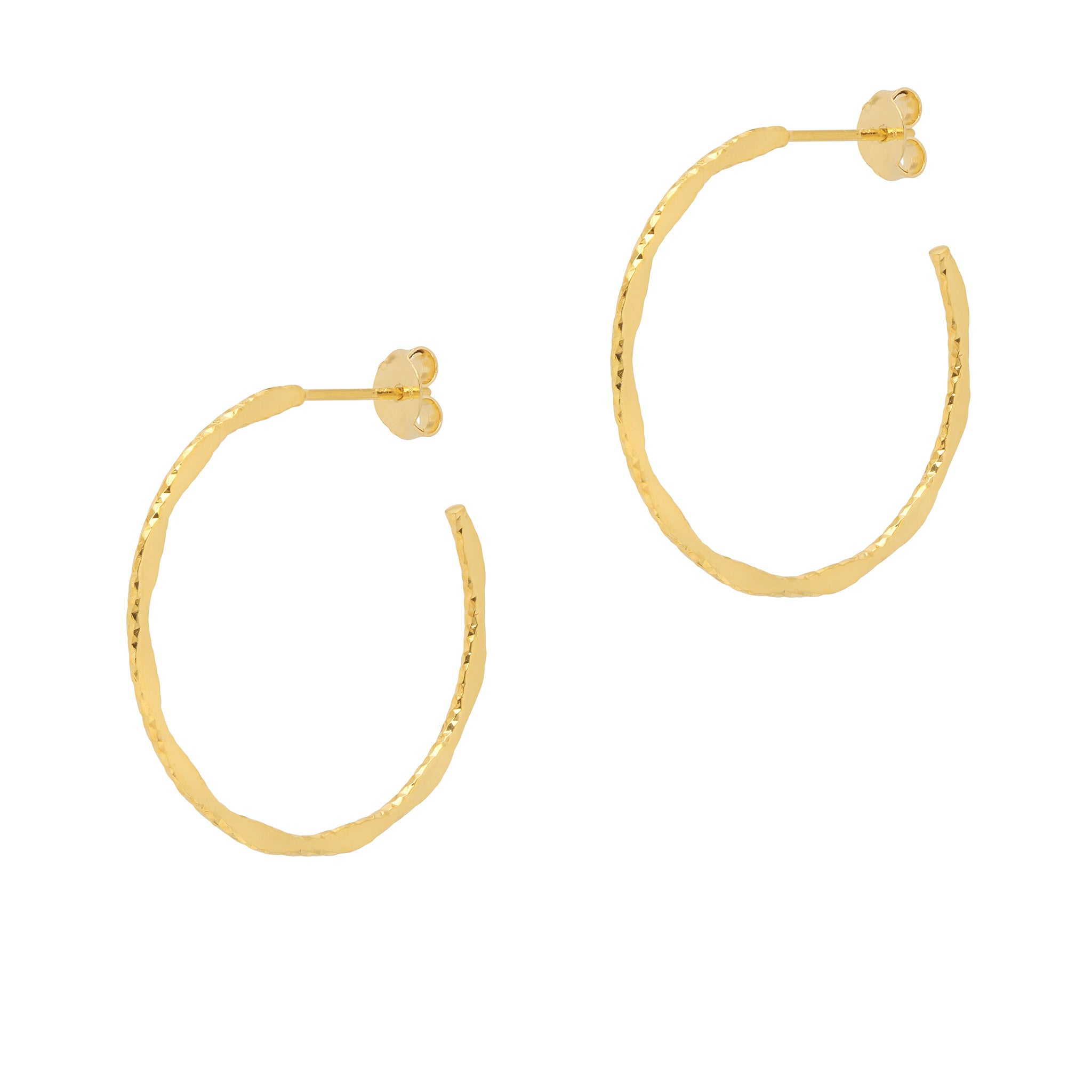 La MODENA Gold - New size - The Hoop Station 925 Sterling Silver Hoop Earrings Gold Huggies