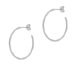 La MODENA Silver - The Hoop Station 925 Sterling Silver Hoop Earrings Gold Huggies