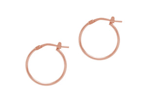 La SUPER SKINNIES - Rosegold - The Hoop Station 925 Sterling Silver Hoop Earrings Gold Huggies