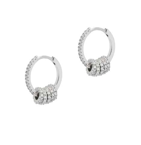La CZ DISCO Huggies - The Hoop Station 925 Sterling Silver Hoop Earrings Gold Huggies