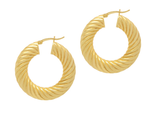 La SIRENA SWIRLS - Gold - The Hoop Station 925 Sterling Silver Hoop Earrings Gold Huggies