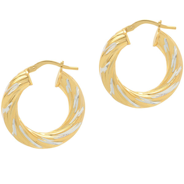 La SWIRLS - Gold - The Hoop Station 925 Sterling Silver Hoop Earrings Gold Huggies
