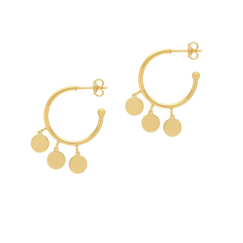 La TRIO DISCO CHARM Hoops - Gold