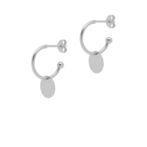 La DISCO Huggies - Silver - The Hoop Station 925 Sterling Silver Hoop Earrings Gold Huggies