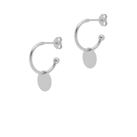 La SHINY DISCO Huggies - Silver - The Hoop Station 925 Sterling Silver Hoop Earrings Gold Huggies