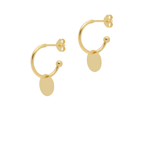 La DISCO Huggies - Gold - The Hoop Station 925 Sterling Silver Hoop Earrings Gold Huggies