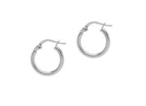 La RIMINI Huggies - Silver (2 x sizes) - The Hoop Station 925 Sterling Silver Hoop Earrings Gold Huggies